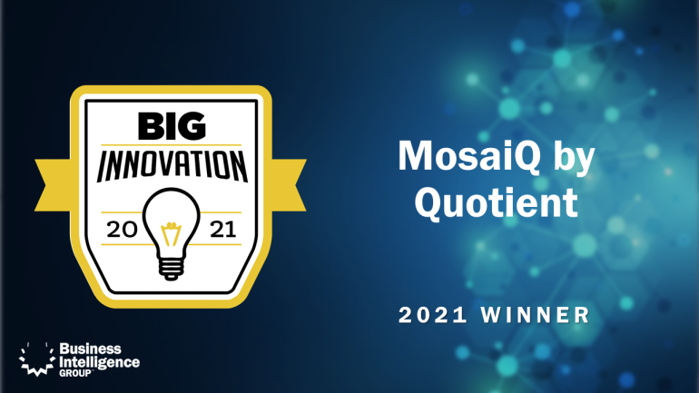 Quotient BIG Innovation award